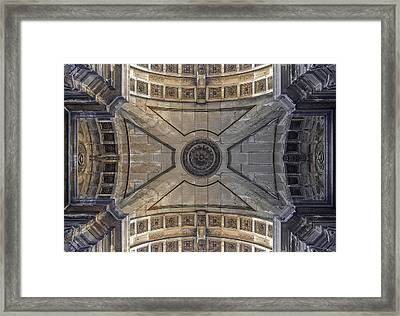 Ceiling  Arcoarua De Augusta Framed Print by Nathan Mccreery