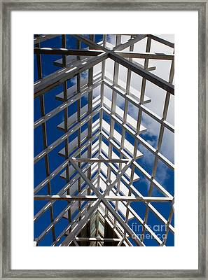 Ceiling Beam Framed Print by Thomas Marchessault