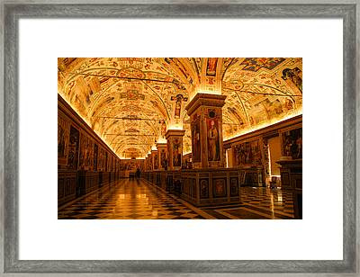 Ceiling Details Of A Museum Framed Print