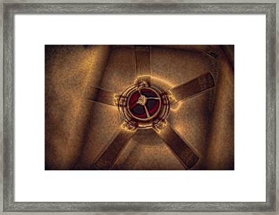 Ceiling Fan Reflected In Ipad Framed Print