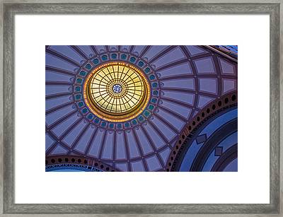 Framed Print featuring the photograph Ceiling In The Chattanooga Choo Choo Train Depot by Susan  McMenamin