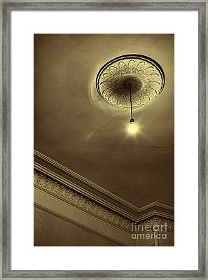 Framed Print featuring the photograph Ceiling Light by Craig B