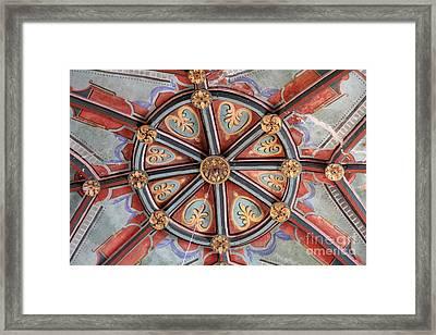 Ceiling Medallion Tepoztlan Framed Print by Linda Queally