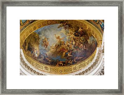 Ceiling Murals Versailles France Framed Print by Tom Norring