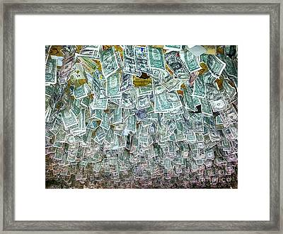 Ceiling Of Dollar Bills  Framed Print by James BO  Insogna