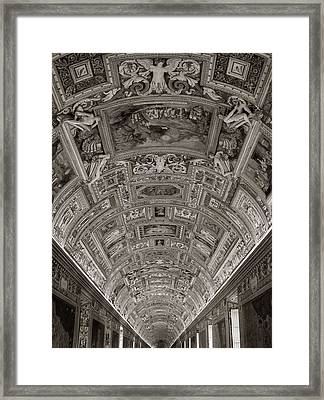 Ceiling Of Hall Of Maps Framed Print