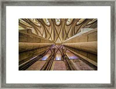 Ceiling Of The Monastery Da Batalha  Framed Print by David Letts