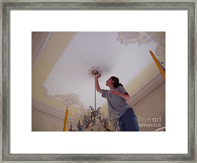 Ceiling Painting Framed Print