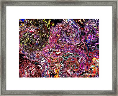 Framed Print featuring the digital art Celebrate An Abstract Modern Contemporary Digital Art by Annie Zeno