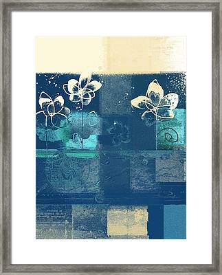 Celebrate - Blue3tx2 Framed Print by Variance Collections