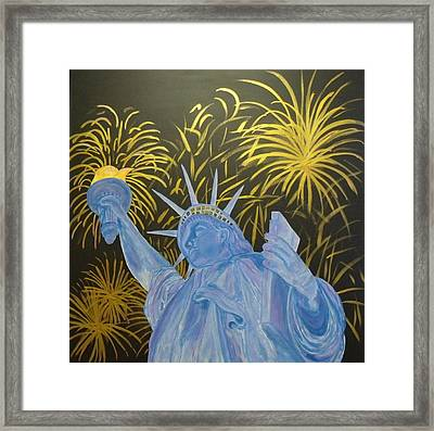 Celebrate Freedom Framed Print by Cheryl Lynn Looker