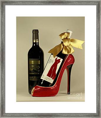 Celebrate In Style With Merlot And Cabernet Framed Print