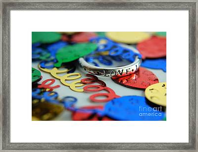 Framed Print featuring the digital art Celebrate Love by Margie Chapman