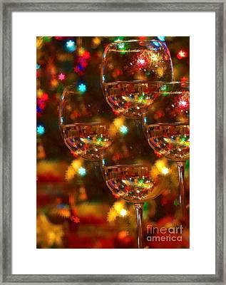 Celebrate Framed Print by Peggy Hughes