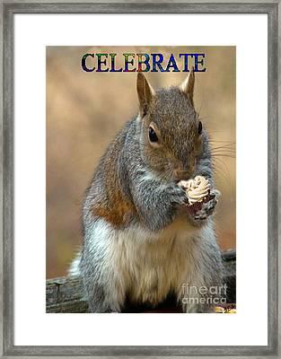 Celebrate Framed Print by Sandra Clark