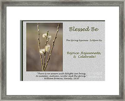 Celebrate The Spring Equinox Card Framed Print