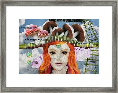 Framed Print featuring the digital art Celebrate Who You Are by Barbara Orenya