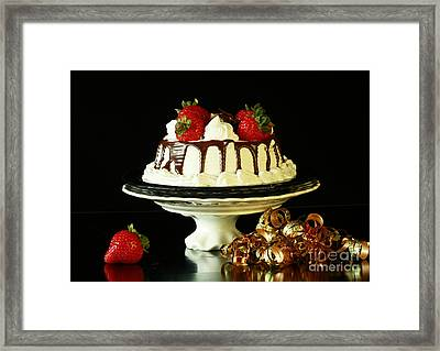 Celebrate With Cake Framed Print by Inspired Nature Photography Fine Art Photography