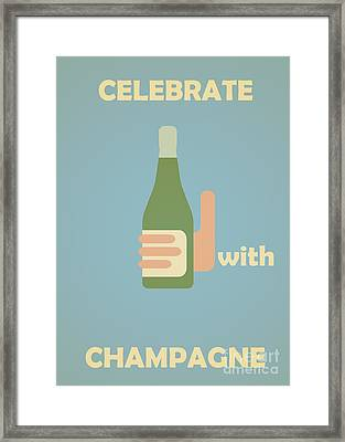 Celebrate With Champagne Framed Print