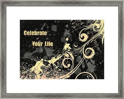 Celebrate Your Life Modern Art Light Framed Print