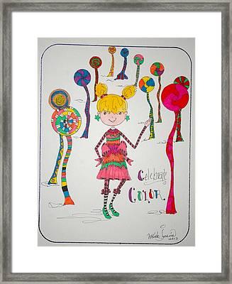 Celebrating Color Framed Print by Mary Kay De Jesus