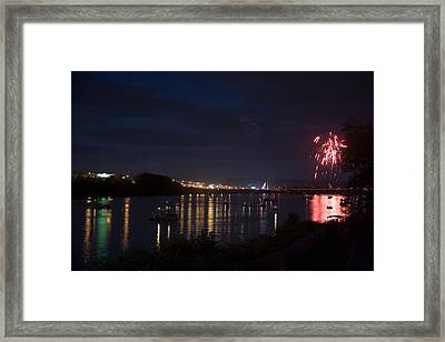 Celebrating Independence Day On The Susquehanna Framed Print by Gene Walls