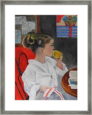 Celebrating The Red Belt -- Abigail Framed Print