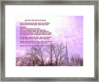 Celebrating The Resurrection Framed Print by Pamela Hyde Wilson