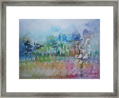 Celebrating Victory Framed Print