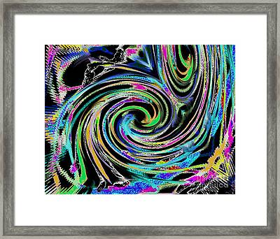 Framed Print featuring the painting Celebration Night by Roz Abellera Art