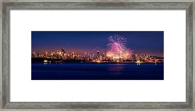 Celebration Of Light 2014 - Day 2 - France Framed Print by Alexis Birkill