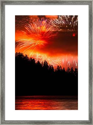 Celebration Of Light Canada From West Vancouver Framed Print by Pierre Leclerc Photography