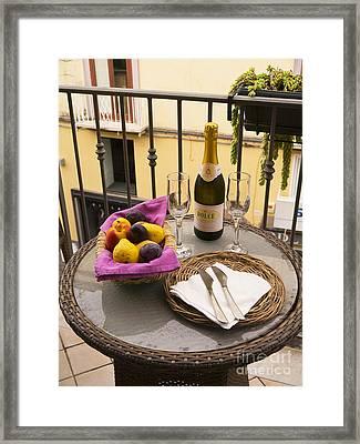 Celebration On An Italian Balcony Framed Print