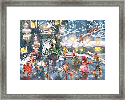 Celebration On Ice Framed Print by Zorina Baldescu