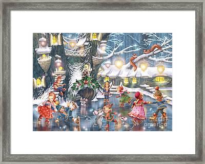 Celebration On Ice Framed Print
