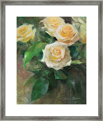 Celebration Roses Framed Print by Anna Rose Bain
