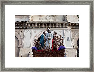 Celebrations On Palm Sunday In Cordoba Framed Print by Artur Bogacki