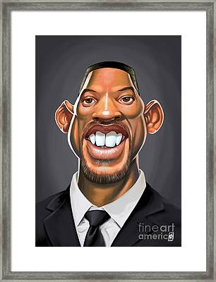 Celebrity Sunday - Will Smith Framed Print