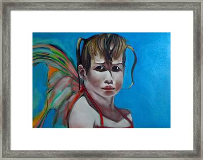 Framed Print featuring the painting Celeste At Grand Beach by Irena Mohr