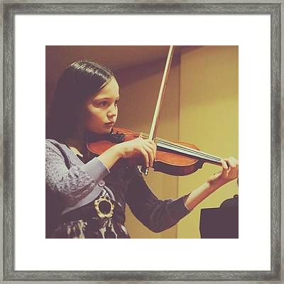 Celeste Playing #violin 😊#music Framed Print