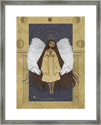 Celestial Angel Framed Print by Karyn Lewis Bonfiglio