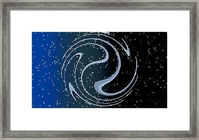 Celestial Breathing - Digital Abstract Framed Print