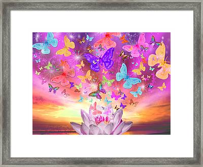 Celestial Butterfly Framed Print by Alixandra Mullins