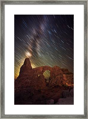 Celestial Cannon Framed Print by Mike Berenson