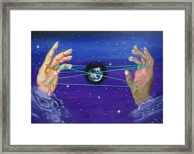 Celestial Cats Cradle Framed Print