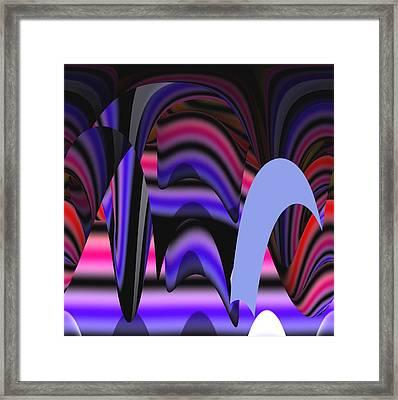 Celestial Cave Digital Art Framed Print by Georgeta  Blanaru