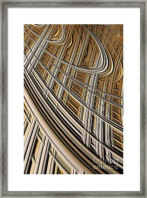 Celestial Harp Framed Print by John Edwards