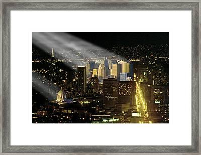 Framed Print featuring the photograph Celestial Light by Rod Jones