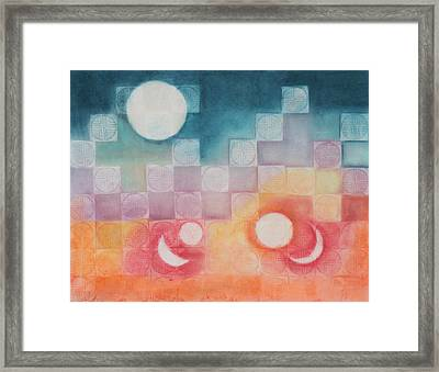 Celestial Matrix Framed Print by Diana Perfect