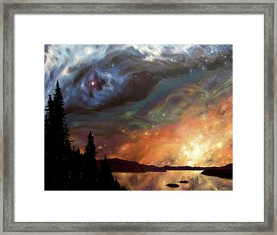 Celestial Northwest Framed Print